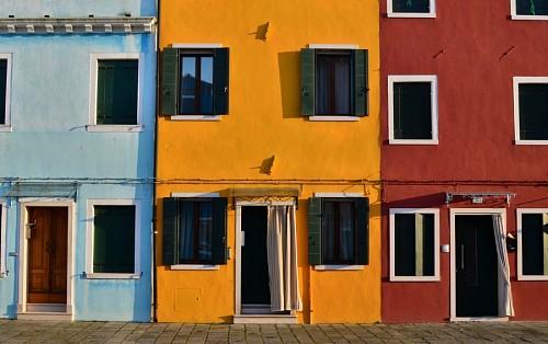 Viviendas coloridas en Mexico