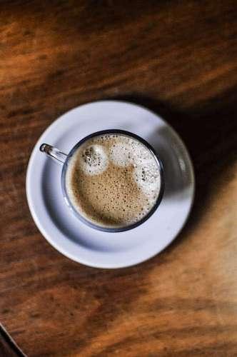 Vista superior café espresso
