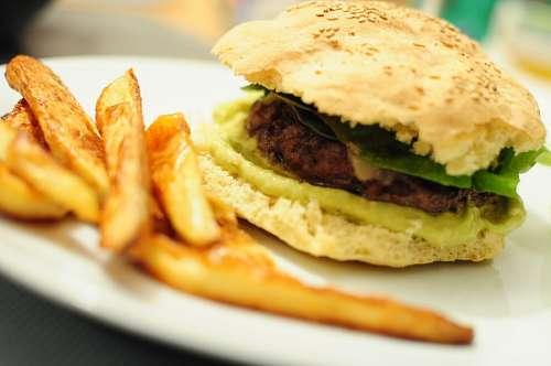 imágenes gratis primer plano, hamburguesa, comida, carne, papas fr