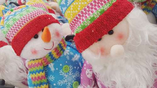 santa claus muñeco de nieve