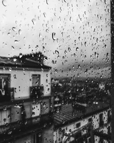 Gotas de lluvia en la ventana