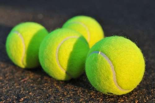 pelota, pelotas, tenis, cuatro, color, verde, esfe