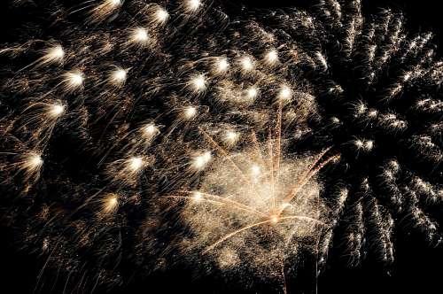 imágenes gratis Juego de Fuegos Artificiales Feliz año nuevo 2017