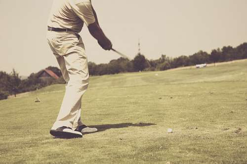imágenes gratis Hombre jugando golf