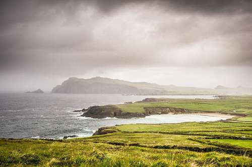 irlanda, isla, paisaje, costa, peninsula, dingle,