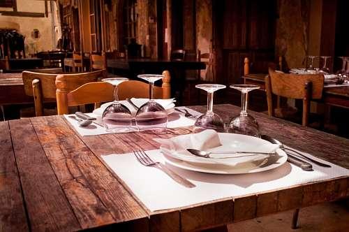 imágenes gratis Mesa de restaurant