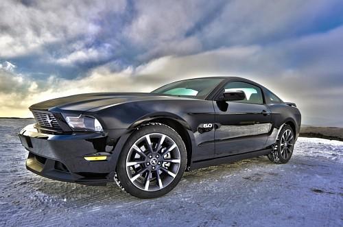 Auto Mustang efecto Hdr para wallpaper