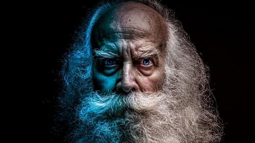Retrato anciano en dos tonos