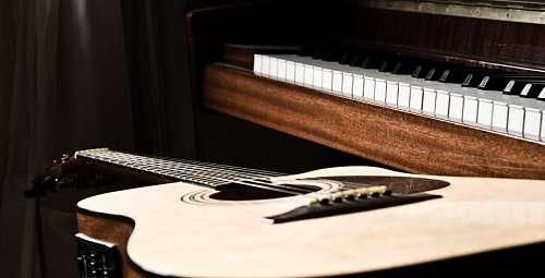 imágenes gratis Guitarra y Piano