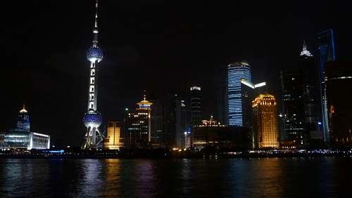 imágenes gratis El Skyline de Shanghai