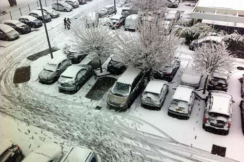 nieve, auto, coche, carro, autos, coches, nevado,