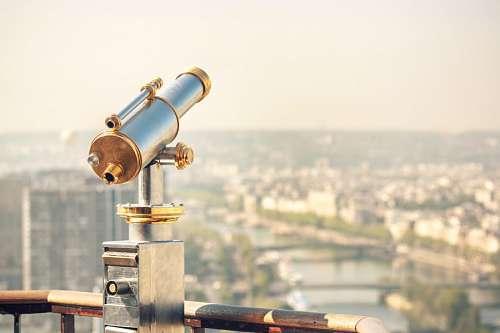 imágenes gratis Mirador con telescopio