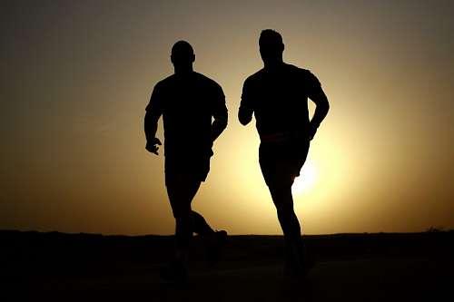 imágenes gratis Running al atardecer