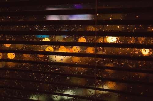 Lluvia desde la ventana