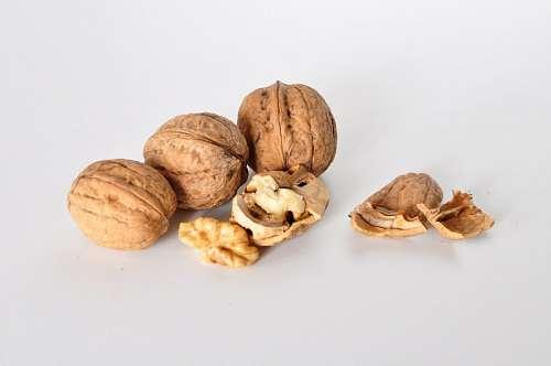 nuez, nueces, fondo blanco, comida, fruto, seco, f