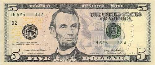5 Dolares