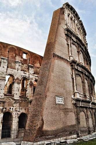 imágenes gratis Parte de Coliseo en Roma, Italia