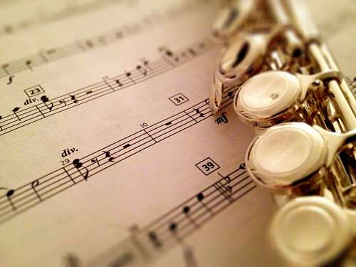 musica, flauta, partitura, fondo, instrumento,