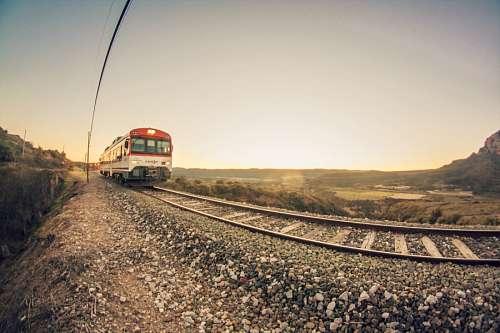tren, transporte, atardecer, via, vias, viajar, mo