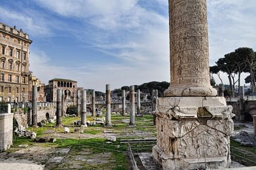 Columna trajana, Roma, Italia