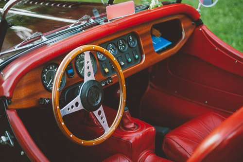 imágenes gratis Auto Rojo Antiguo