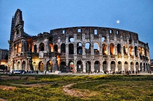 imágenes gratis Coliseo de Noche, Roma, Italia