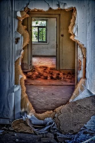 Habitación en ruinas