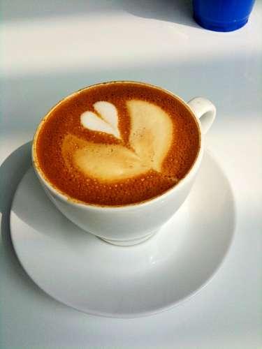 imágenes gratis Taza de Cafe con espuma en forma de corazon