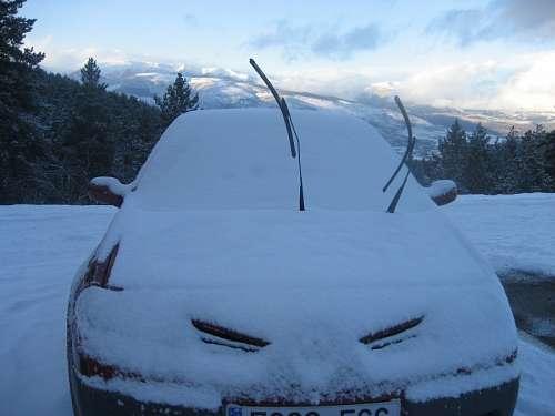 imágenes gratis Auto en la Nieve