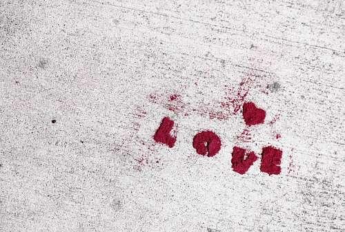 Decoración con la palabra Amor