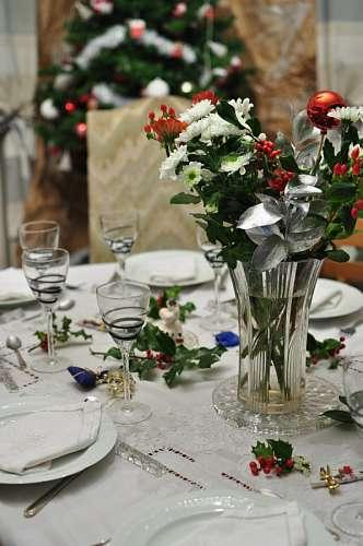 imágenes gratis mesa, navidad, servido, servida, interior, cena, n