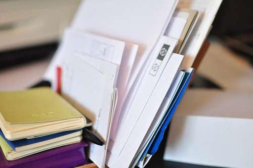 escritorio, oficina, carta, cartas, papel, papeles