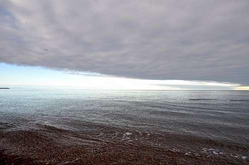 atardecer, ocaso, horizonte, nubes, nube, puerto m