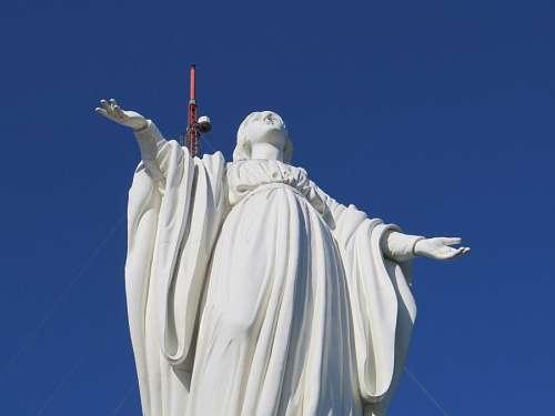 imágenes gratis Virgen en la cima del Cerro San Cristobal