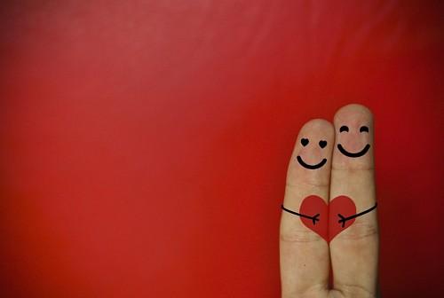 Amor concepto dedos enamorados