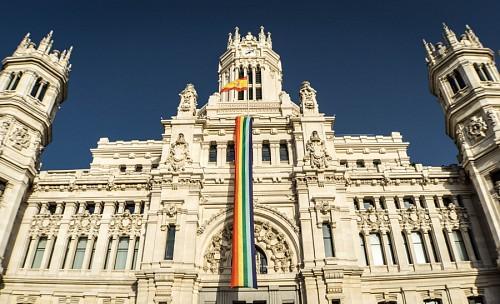 imágenes gratis Bandera de orgullo gay en España
