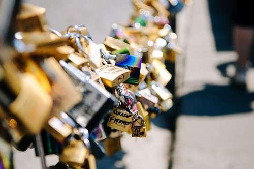 imágenes gratis Puente de los candados de los enamorados