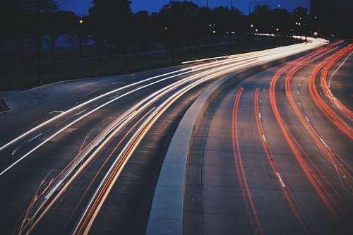 imágenes gratis Autopista de Noche