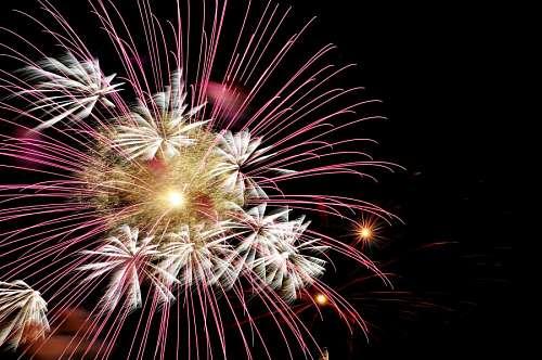 Fuegos Artificiales en año nuevo