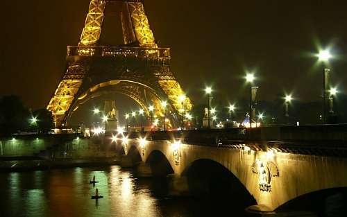 imágenes gratis Torre Eiffel ciudad de noche