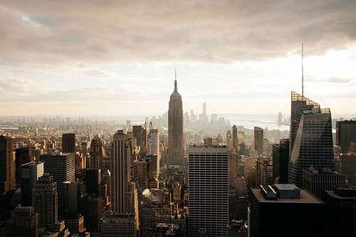 Contraluz de Edificios Ciudad de Nueva York