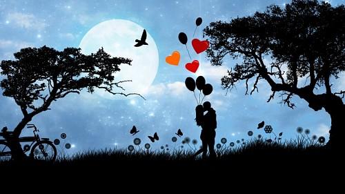 Imagenes de amor tiernas para celular Enamorados con globos