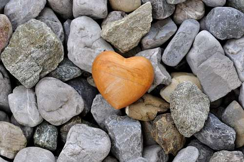 imágenes gratis Roca con forma de corazon