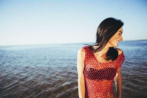 imágenes gratis Modelo en el mar