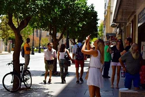 imágenes gratis Mujer tomando fotos