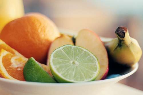Tazon con frutas