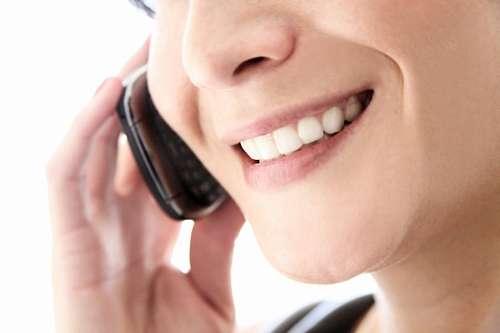 mujer, una persona, sonrisa, dientes, blanco, tele