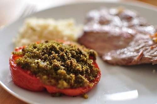 imágenes gratis comida, plato, vista de frente, carne, tomate, rel