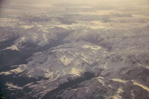 montaña, montañas, vista aerea, vista de arriba, e
