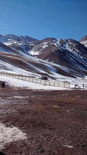 paisaje, montaña, invierno, mendoza, nieve, dia, n